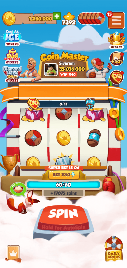 10000 Spins in coin master